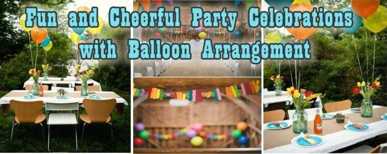 Fun And Cheerful Party Celebrations With Balloon Arrangement