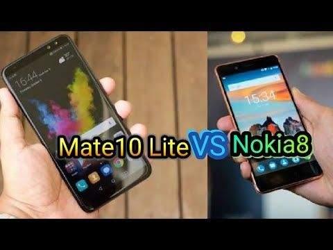 Nokia 8 Sirocco vs Huawei Mate 10 Lite