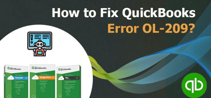 QuickBooks Error OL-209