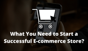 What You Need To Start a Successful E-commerce Store?