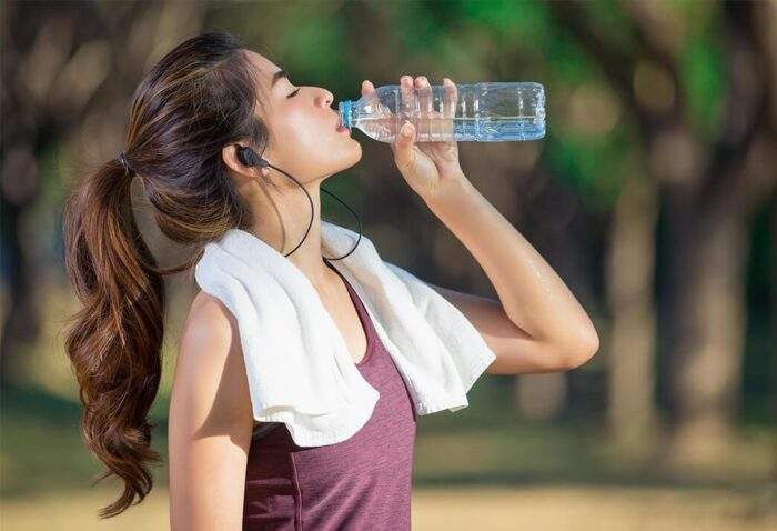 drinking water for hair
