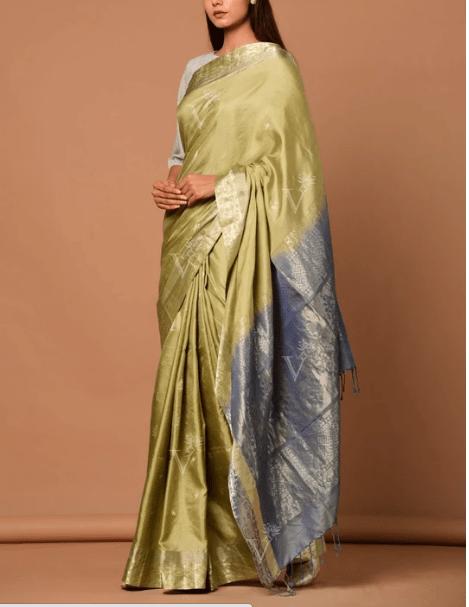 Beige Banarasi Silk Handloom Saree