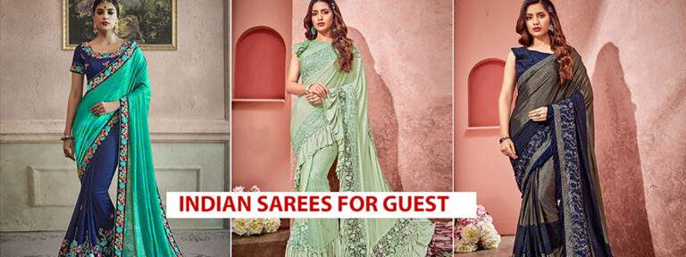 5 Indian Style Designer Sarees Wear As A Wedding Guest