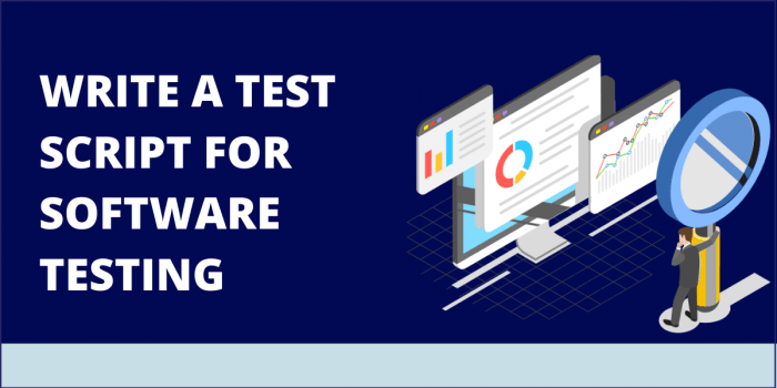Write a Test Script For Software Testing